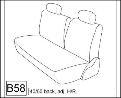 1997-1998 Toyota Tercel Coupe Front and Back Seat Set