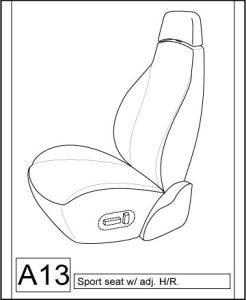 1988-1991 Honda Prelude Coupe Seat Covers For Sport