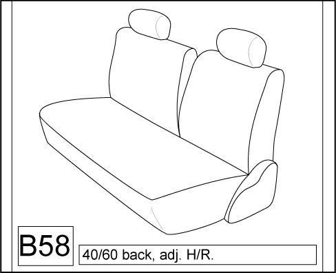 1999 2004 Toyota Tacoma Rear 60 40 Split Bench Seat