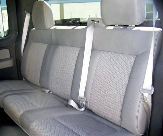2010 Ford F150 Rear Solid Back 60 40 Split Bottom Bench